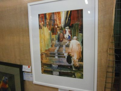 Phil Riseley Peoples Choice. Leongatha Painters Group. The Market Place.JPG
